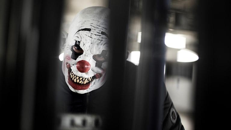Läskig clown skräckclown