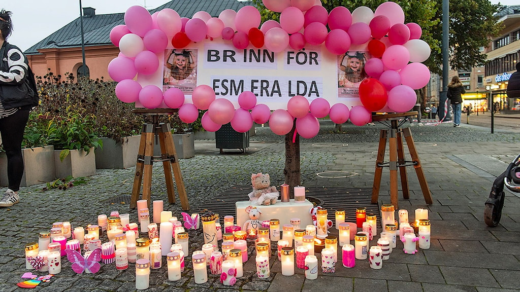 Ljus, ballonger och bilder på Esmeralda.