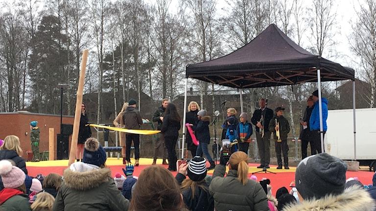 Ny skola i Motala invigdes.