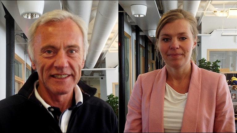 Reidar Svedahl (L) och Sophia Jarl (M).