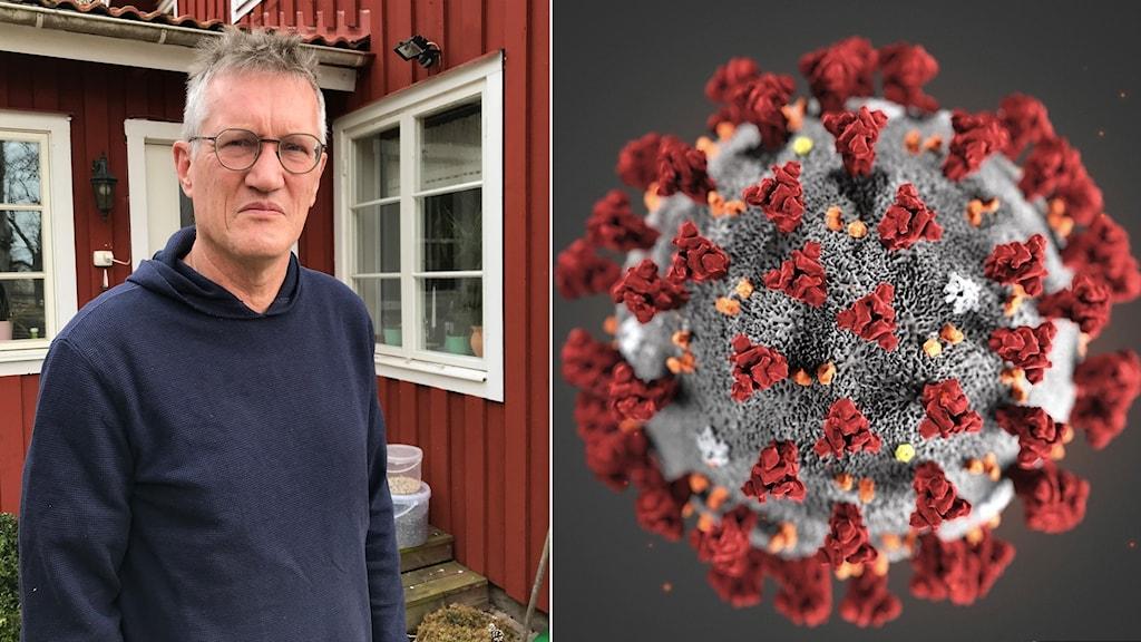 Statsepidemiolog Anders Tegnell och coronaviruset