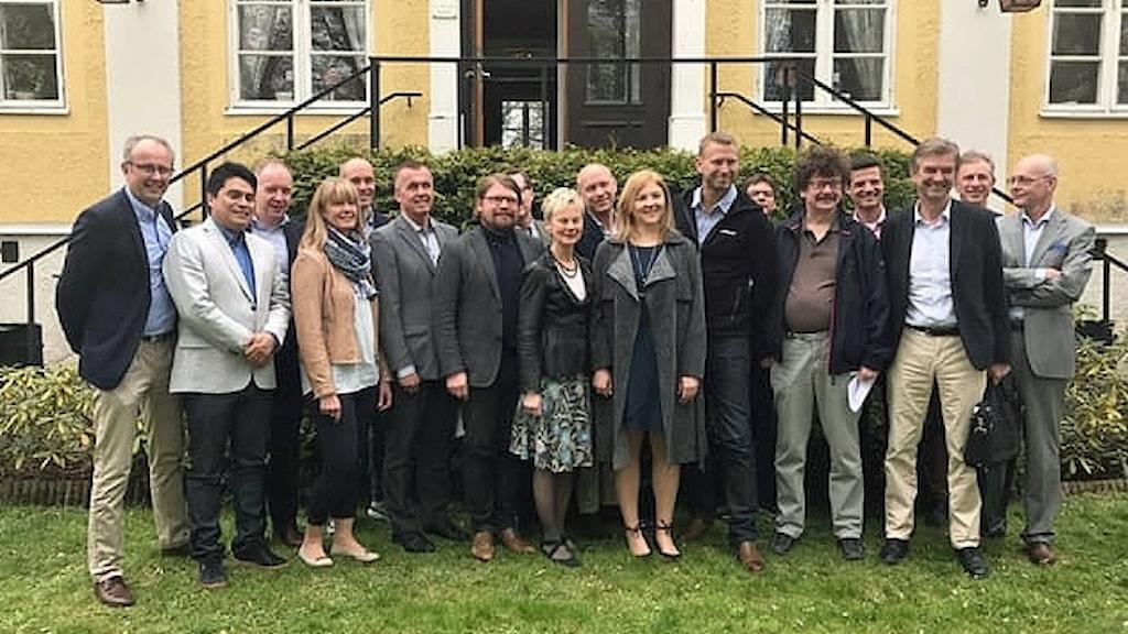 Gruppbild från mötet med Northvolt.