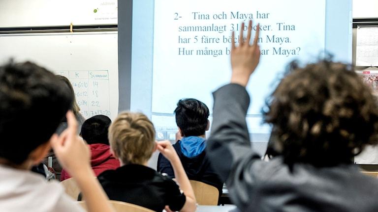 barn, elever, matte, lektion, matematik, prov, undervisning