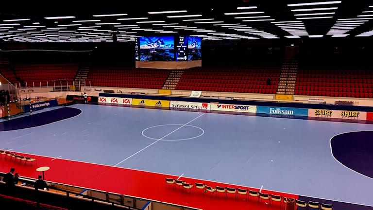 Ett ombyggt Himmelstalundshallen, från hockey till futsal