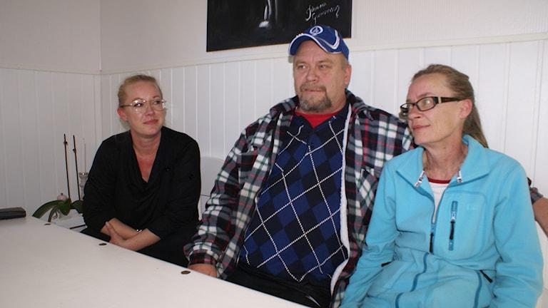 Lina Arvidsson med föräldrarna Anne-Louise och Per Arvidsson