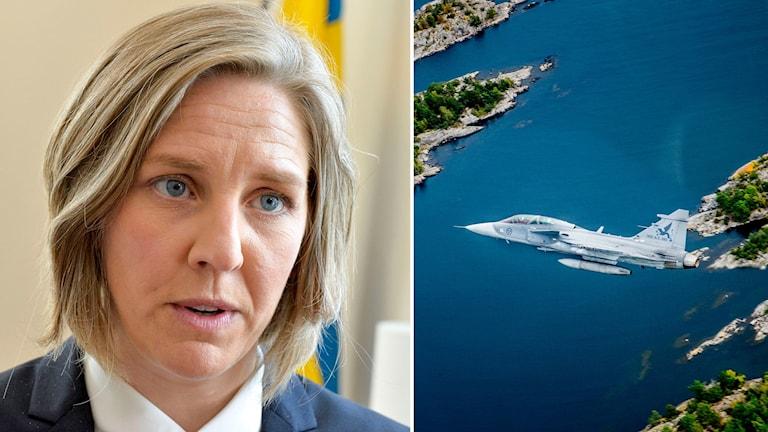 Karolina Skog och JAS-plan