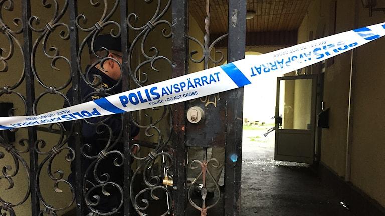 Explosion på Nygatan i Norrköping