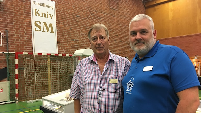 Kent Karlsson, ordförande i Knivmakarna Öst och Daniel Widlund arrangerar mässan.