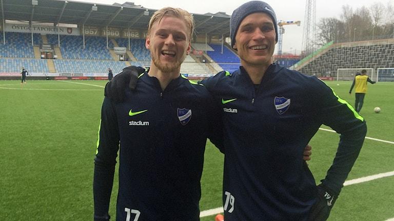 Kalle Holmberg och Sebastian Andersson.