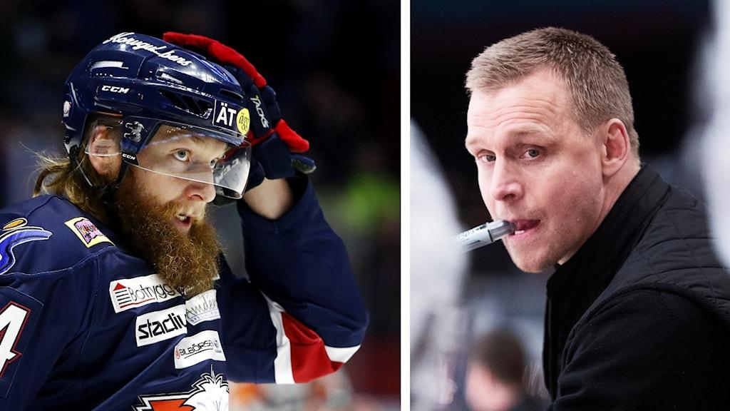 Jonas Junland och Bert Robertsson i Linköping HC.