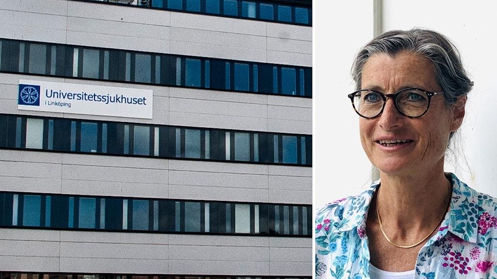 Universitetssjukhuset i Linköping och smitskyddsläkare Britt Åkerlind.