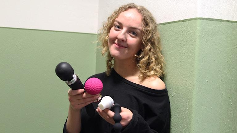 Maria Lindblom från Kärleksbutiken i Norrköping.