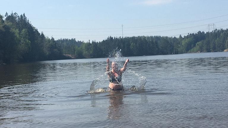 Katarina Johansson badar