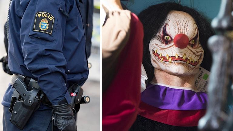 Clown och polis