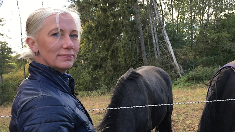 Ridskolechef Mia Eriksson i Heda ridklubb.