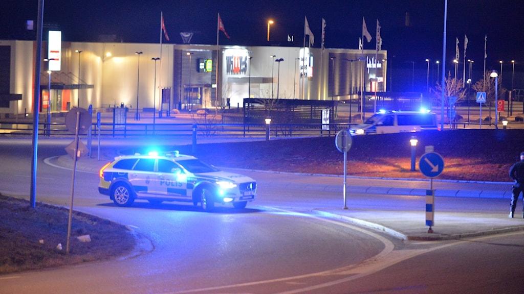 Polisbil vid Ingelstad