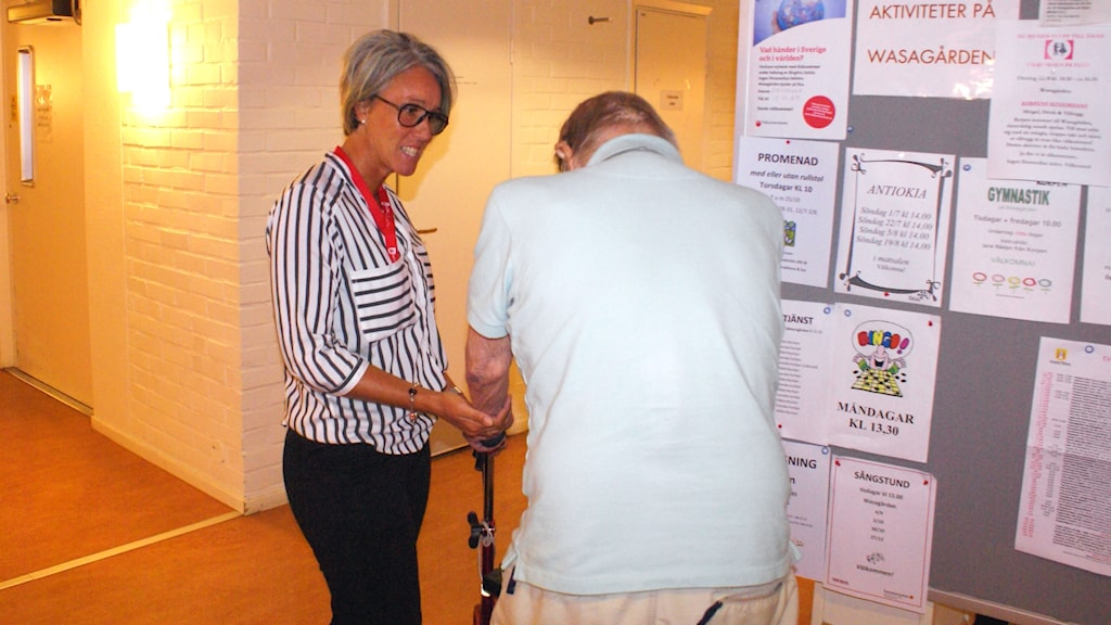 Jessica Lindh enhetschefer på Wasagårdens äldreboende i Vadstena