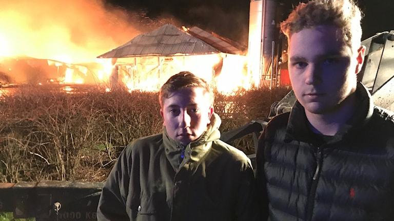 Melker Olofsson och Samuel Öberg vretagymnasiet.