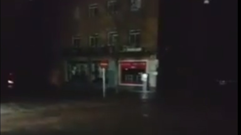 Strömavbrott i Norrköping.
