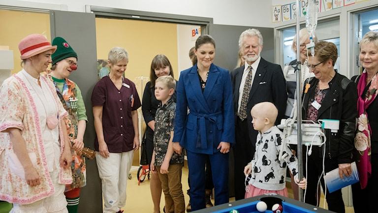 Idag besökte kronprinsessan Victoria barn- och ungdomssjukhuset i Linköping.
