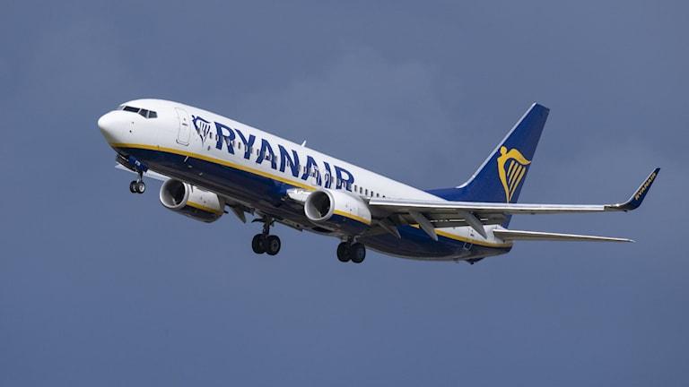 Ryanair-flyg i luften