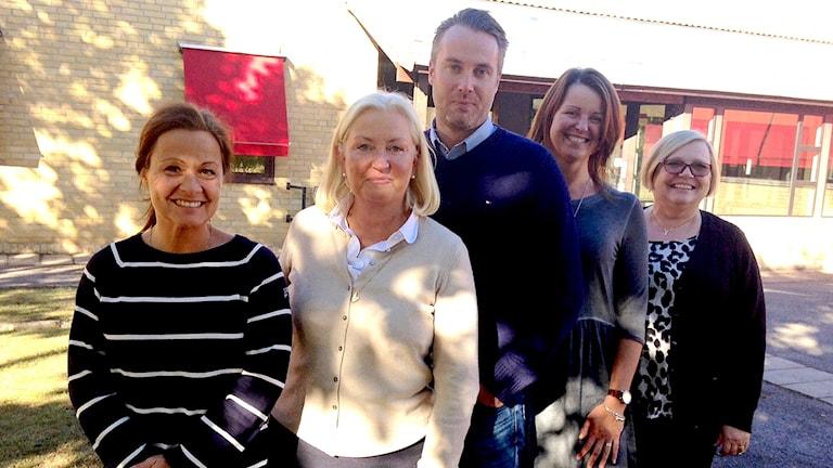 Maria Larsson lärare engelska/idrott, Suzanne Stråkander Rockler, rektor, Johan Parmbäck, arbetsledare resursteam, Lisa Wall Johansson lärare so, Mari-Anne Vejhall-Johansson speciallärare.