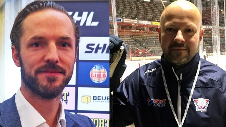 Arkivbilder. Niklas Persson (till vänster) ger Tommy Jonsson (till höger)
