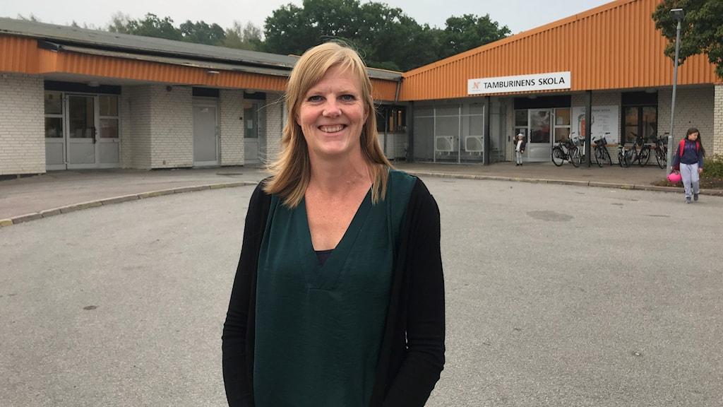 Anna Olsson, rektor Tamburinen Klockaretorpet