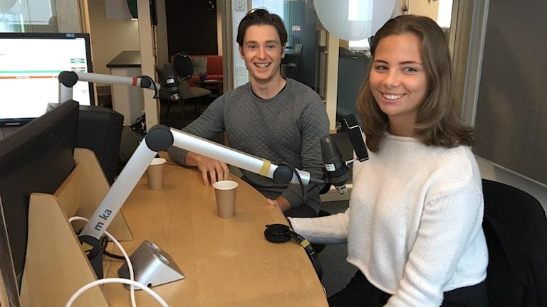 Peder Rörvig och  Linnea Schleyer