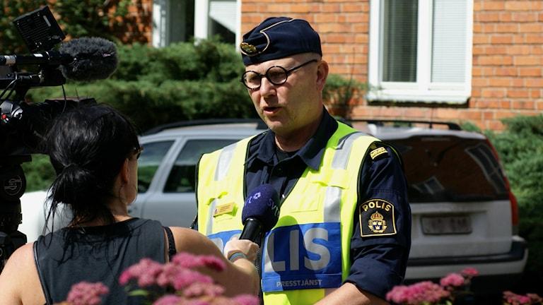 Thomas Agnevik, polisens presstalesman.
