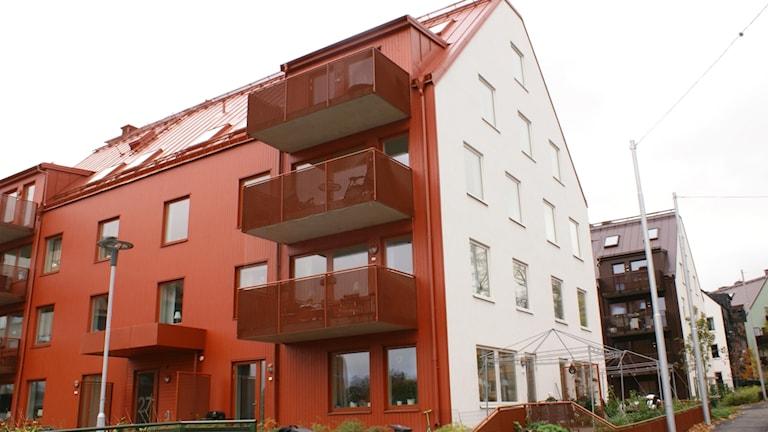 flerfamiljshus som Hyresbostäder byggt i Norrköping