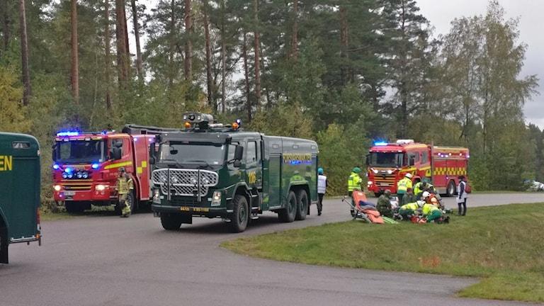 På onsdagen hölls en stor krisövning på Malmens flygplats i Linköping.
