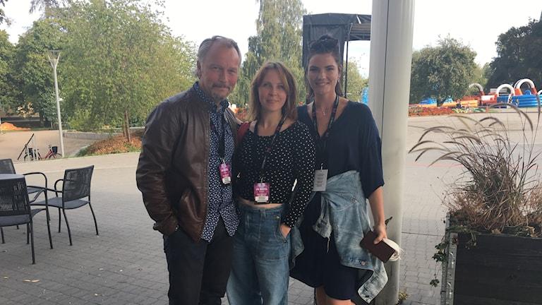 Niclas Jansson och Alexandra ekelöf, Linköpings legender och Patricia Birgersson som sjunger för P4 Kalmar i P4 Nästa finalen.
