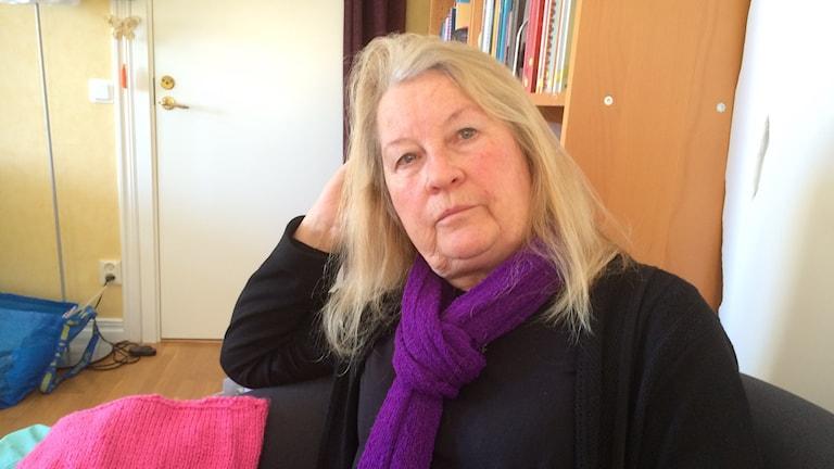 Tina Olby, ordförande i Motala kvinnojour.