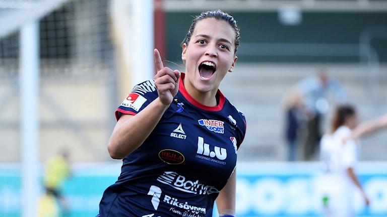 Får Marija Banusic och hennes LFC jubla efter kvällens match mot Sparta Prag? Följ matchen i Radiosporten.
