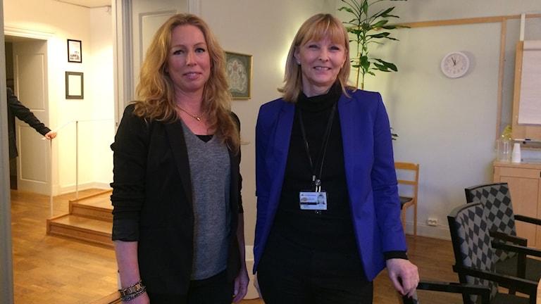 Pernilla Thott Ljung, förvaltningschef arbetsmarknadskontoret, Inger Schröder chef Arbetsförmedlingen