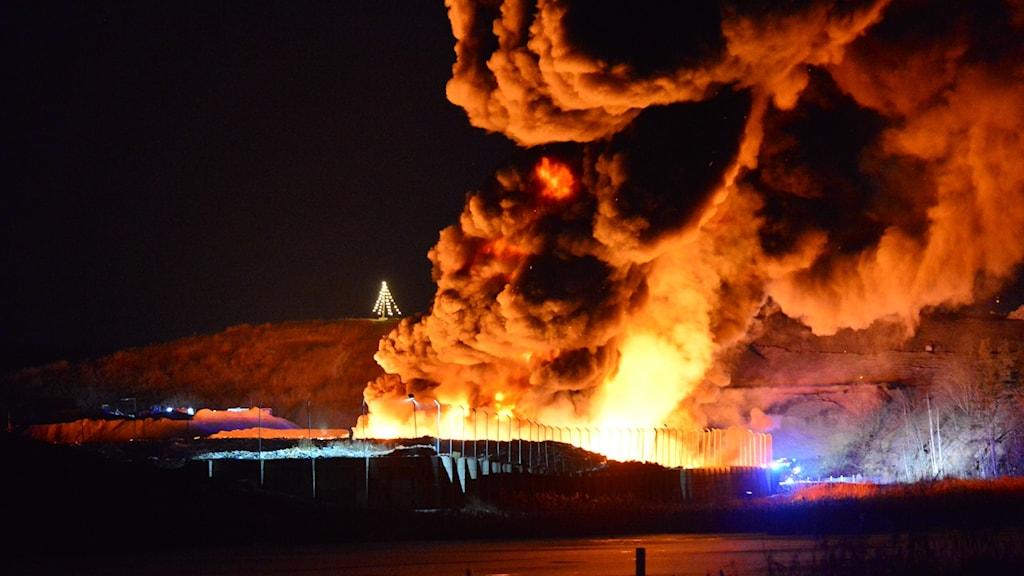 Brand på Häradsudden avfallsanläggning