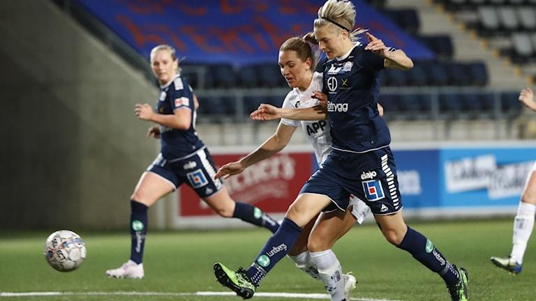 Växjös Jennie Nordin och Linköpings Lina Hurtig