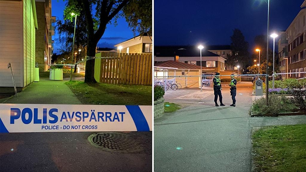 En man i 20-årsåldern har anhållits, misstänkt för att ha skjutit en annan man i Ryd i Linköping på onsdagskvällen.