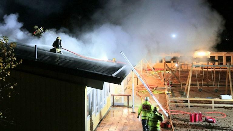 Brand på förskola i Norrköping