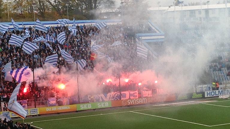 Hejarklack inför match i Norrköping.