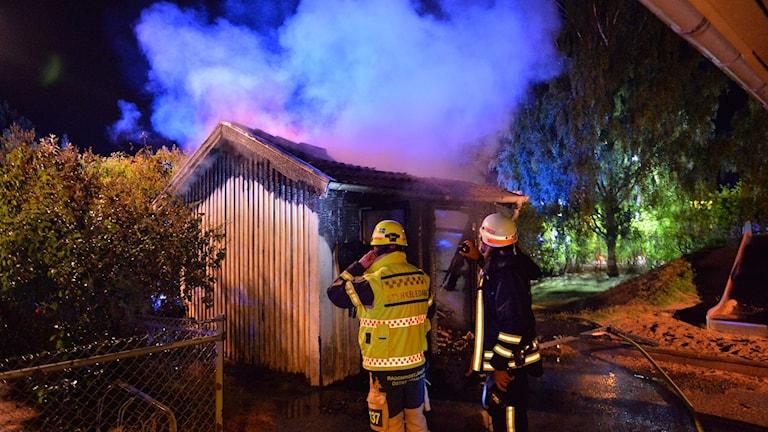 Brand i leksaksbod vid förskola i Krokek misstänks vara anlagd.