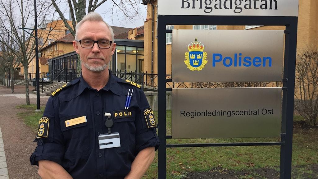 Joakim Jäderstig, kommissarie och chef för vakthavandebegälsgruppen, Polisregion Öst.