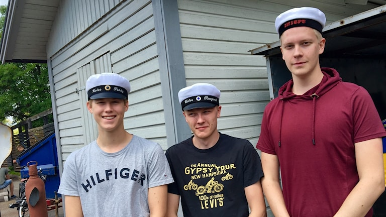 Studenterna Victor Pohly, Victor Ringvall, Brandon Saari.