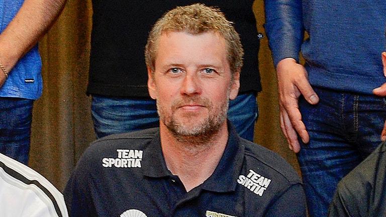 Stefan Andersson Skill, lagledare i Piraterna, upptaktsträff inför 2016 års Elitserie i speedway.