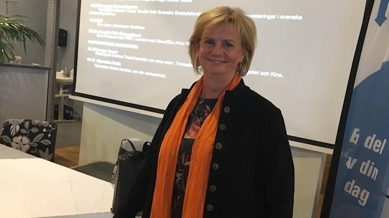 Marianne Rundström på seniormässan i Norrköping.