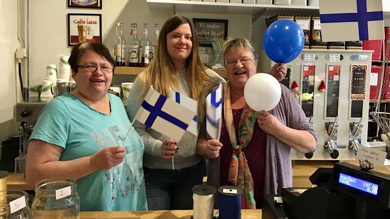Monica Andersson, Johanna Larsson, Tarja Salo Larsson.
