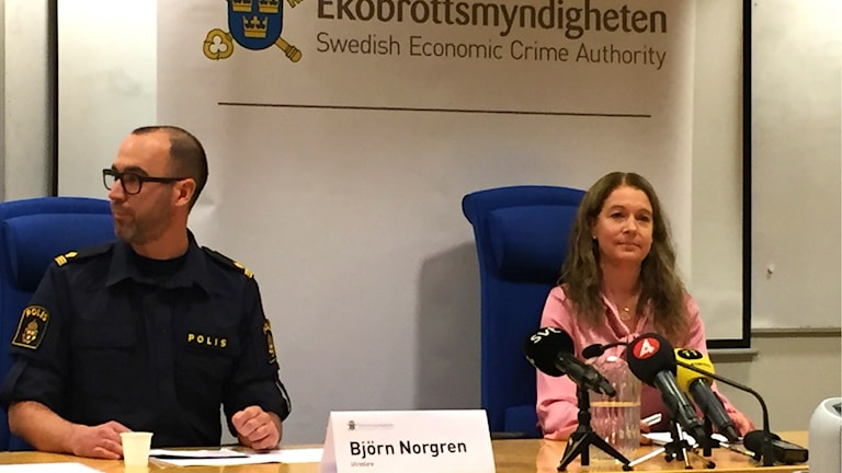 Utredare Björn Norgren och Kammaråklagare Anna Lander