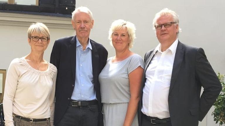 Catharina Håkansson Boman och HG Wessberg, Sverigeförhandingen, samt kommunalråden Kristina Edlund (S) och Paul Lindvall (M).