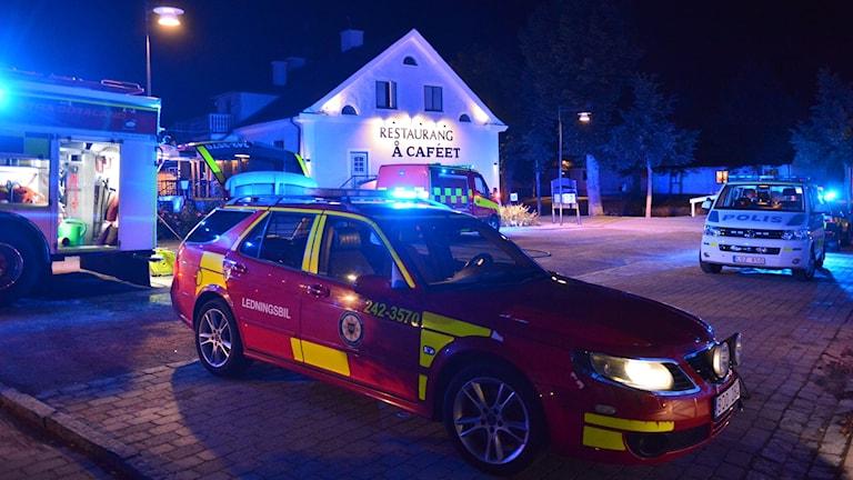 Polisen misstänker att branden i restaurang Å-caféet i Söderköping natten mot lördag var anlagd.